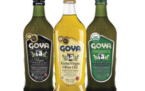 Los aceites de Goya de extra virgen y orgánicos, se colocan en primer plano